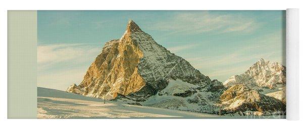 The Sun Sets Over The Matterhorn Yoga Mat