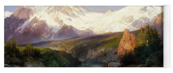 The Teton Range, 1897 Yoga Mat