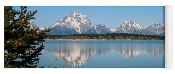 The Tetons On Jackson Lake - Grand Teton National Park Wyoming Yoga Mat