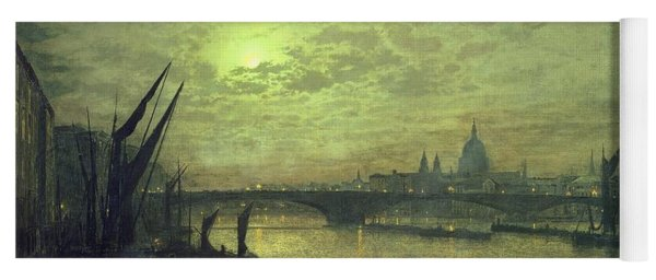 The Thames By Moonlight With Southwark Bridge Yoga Mat