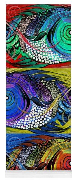 The Three Fishes Yoga Mat
