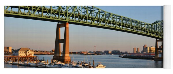 The Tobin Bridge Into The Sunset Chelsea Yacht Club Yoga Mat