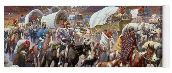 Yoga Mat featuring the painting The Trail Of Tears by Granger