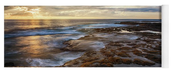 Yoga Mat featuring the photograph The Tranquil Seas by Susan Rissi Tregoning