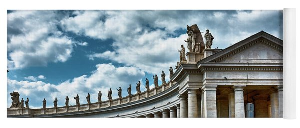 Yoga Mat featuring the photograph The Tuscan Colonnades In The City Of Rome by Eduardo Jose Accorinti