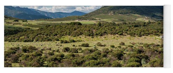 The Urzulei Mountains Yoga Mat