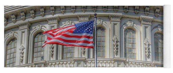 The Us Capitol Building - Washington D.c. Yoga Mat