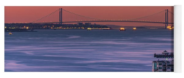 The Verrazano Bridge At Sunrise Yoga Mat