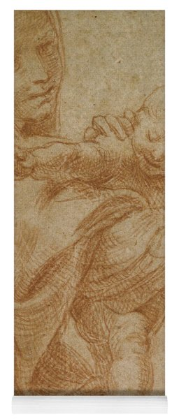 The Virgin And Child Yoga Mat
