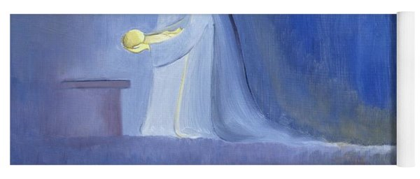 The Virgin Mary Cared For Her Child Jesus With Simplicity And Joy Yoga Mat