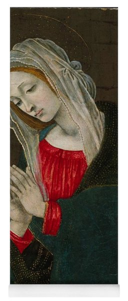 Yoga Mat featuring the painting The Virgin Of The Nativity , Workshop Of Filippino Lippi by Artistic Panda