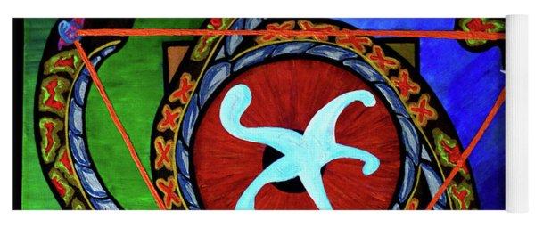 The Vitruvian Serpent Yoga Mat