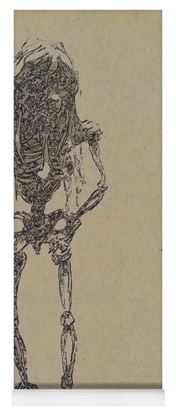Yoga Mat featuring the drawing The Walking Dead by Reed Novotny