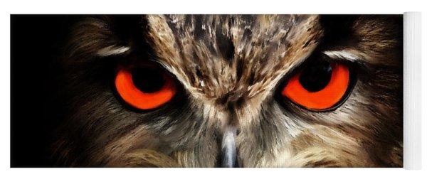 The Watcher - Owl Digital Painting Yoga Mat