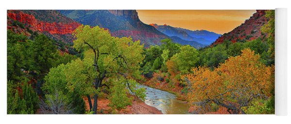 The Watchman And The Virgin River Yoga Mat