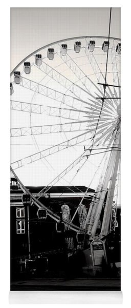 The Wheel Black And White Yoga Mat