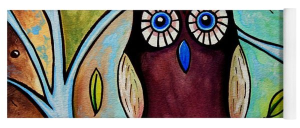 The Whimsical Owl Yoga Mat