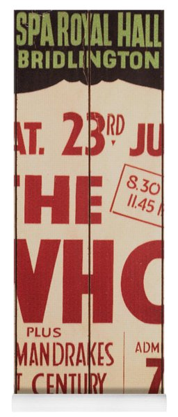 The Who 1966 Tour Poster Yoga Mat
