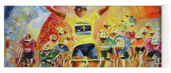 The Winner Of The Tour De France Yoga Mat