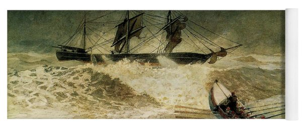 The Wreck Of The Iron Cloud, 1881 Yoga Mat