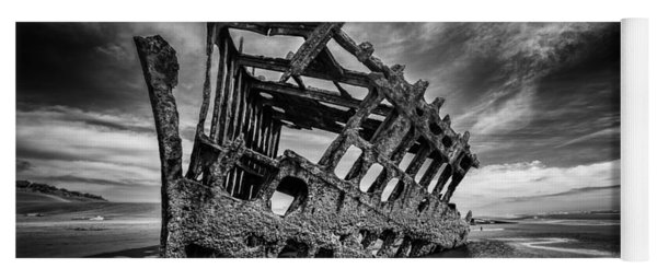 The Wreck Of The Peter Iredale Yoga Mat
