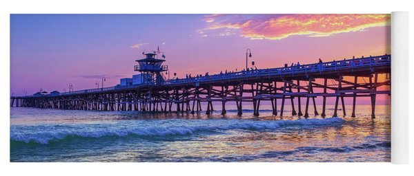 There Will Be Another One - San Clemente Pier Sunset Yoga Mat