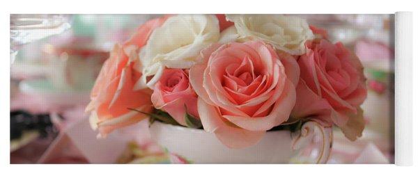 Teacup Roses Yoga Mat