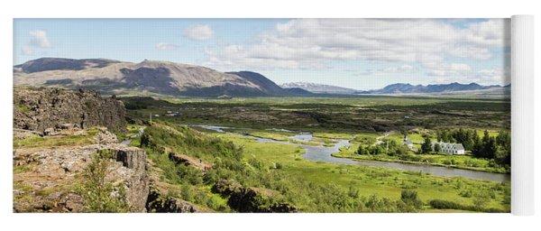 Thingvellir National Park In Iceland Yoga Mat