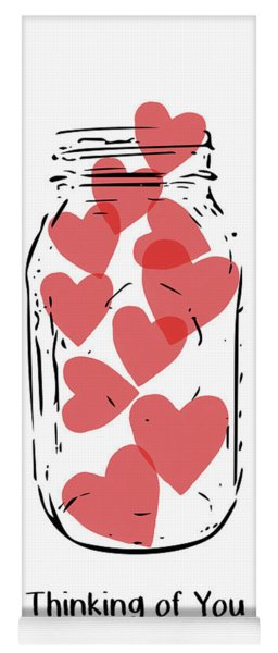 Thinking Of You Jar Of Hearts- Art By Linda Woods Yoga Mat