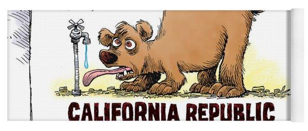 Thirsty California Flag Yoga Mat