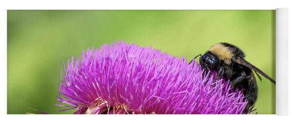 Thistle And Bee Yoga Mat