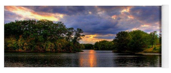 Thomas Lake Park In Eagan On A Glorious Summer Evening Yoga Mat