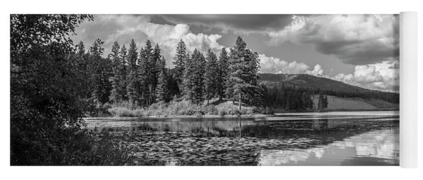 Thompson Lake In Black And White Yoga Mat