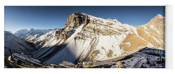 Thorung La Pass In The Annapurna Range In The Himalayas In Nepal Yoga Mat