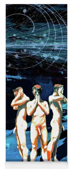 Three Boys, Hear No Evil, Speak No Evil, See No Evil Yoga Mat