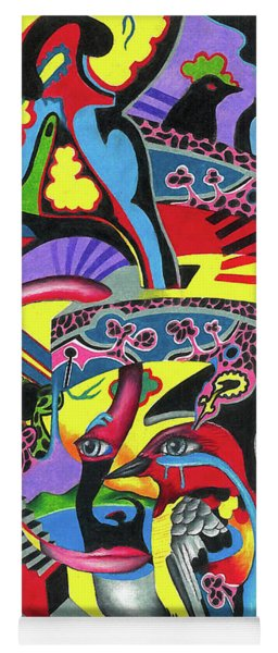 Three Disguises Of An Abstract Thought Yoga Mat