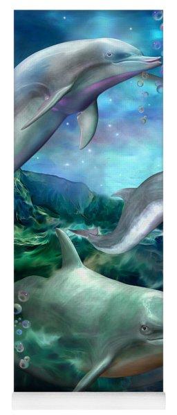 Three Dolphins Yoga Mat
