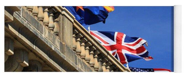 Three Flags At London Bridge Yoga Mat