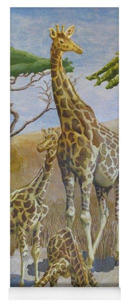 Three Giraffes Yoga Mat