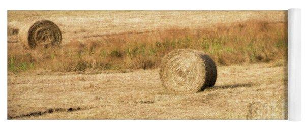 Three Hay Balls -  Yoga Mat