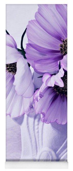 Three Lavender Cosmos Yoga Mat