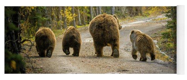 Three Little Bears And Mama Yoga Mat