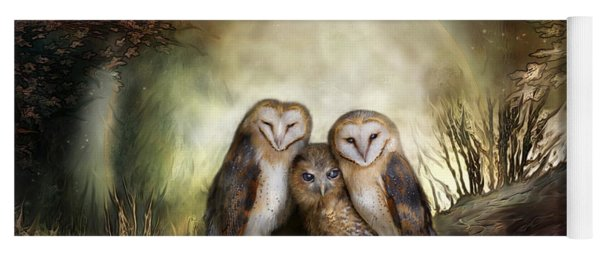 Three Owl Moon Yoga Mat