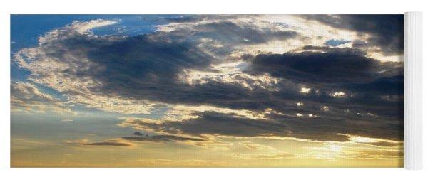 Three Peak Sunset Swirl Skyscape Yoga Mat