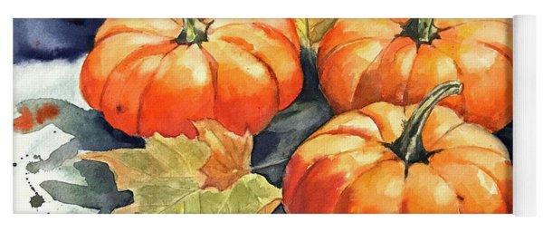 Three Pumpkins Yoga Mat