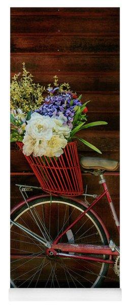 Three Speed Flower Bicycle Yoga Mat