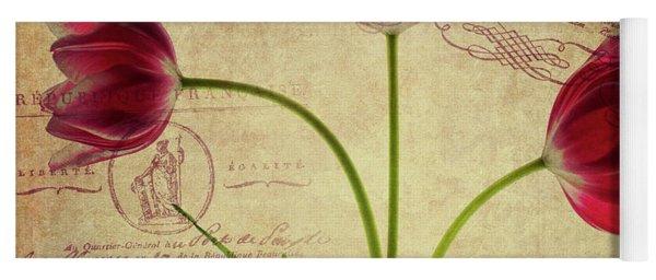 Three Tulips Letter Yoga Mat