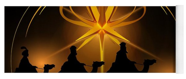 Three Wise Men Christmas Card Yoga Mat