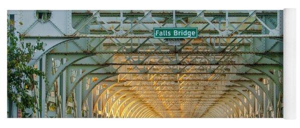 Yoga Mat featuring the photograph Through The Falls Bridge - East Falls Philadelphia by Bill Cannon