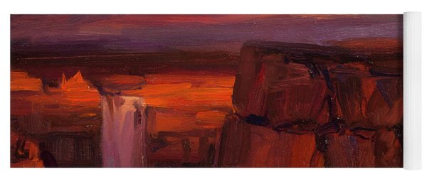 Yoga Mat featuring the painting Thundercloud Over The Palouse by Steve Henderson